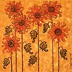 'Fire Blooms' - happiness in paint! by Lisa Frances Judd~QuirkyHappyArt
