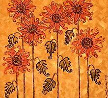 'Fire Blooms' - happiness in paint! by Lisa Frances Judd ~ QuirkyHappyArt