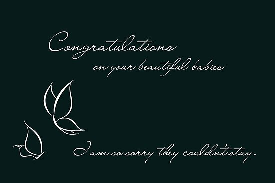Congratulations On Your Beautiful Babies by Franchesca Cox