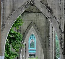 under the St Johns bridge by Courtneystarr