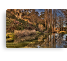 Reflections of Autumn - Rockley, NSW,Australia - The HDR Experience Canvas Print
