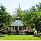 Milam County Courthouse Gazebo; Cameron, TX by plsphoto