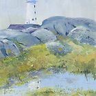 Lighthouse at Peggy's Cove, Nova Scotia by Chris Jessup