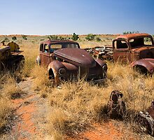 Old Vehicles Wrecks by Richard  Windeyer