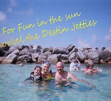 Snorkeling in Destin Postcard by Charldia