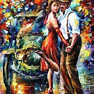 Old Tango - original oil painting on canvas by Leonid Afremov by Leonid  Afremov