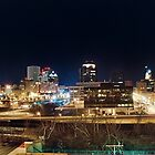 Night Skyline - Downtown Rochester by BradKphoto