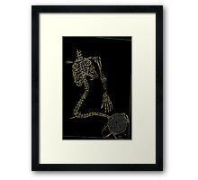Skeleton Knit Framed Print