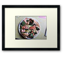 Pizza Salmone Framed Print