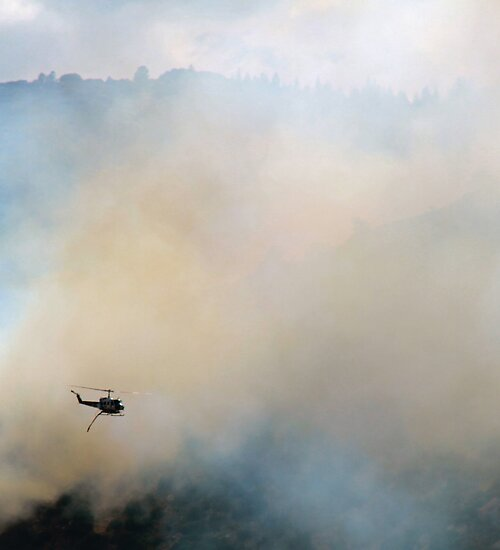 Helicopter Fighting the Key Fire by Corri Gryting Gutzman