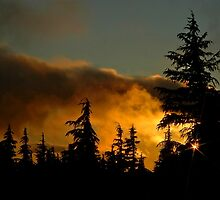 Sunset At Timberline by Nick Boren