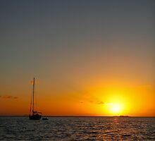 Sunset Sea Australia by 104paul