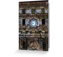 Customs House Clock Greeting Card
