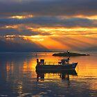 Sunbeams over the Isle of Skye, Scotland. by photosecosse /barbara jones