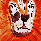 The Tigar, watercolor by Anna  Lewis