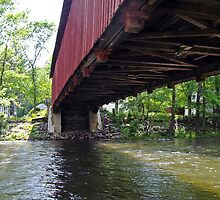 """Covered bridge from the side by Scott """"Bubba"""" Brookshire"""
