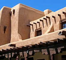 Adobe Building, Detail 3, Santa Fe, New Mexico by VoxOrpheus