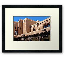 Adobe Building, Detail 3, Santa Fe, New Mexico Framed Print
