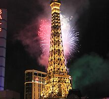 Paris Casino in Las Vegas at New Years 2011 by boydhowell