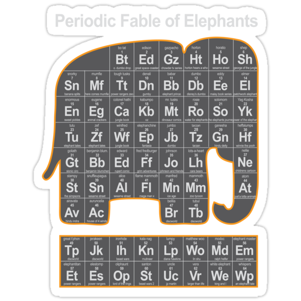 Periodic Fable of Elephants by monkeyjunkshop