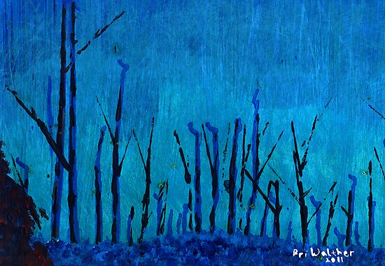 Blue Forest Greeting Card by Brian Walther
