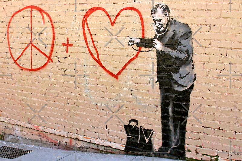 Banksy - Doctor Love - San Francisco, CA 2010 by Monica  Dahl