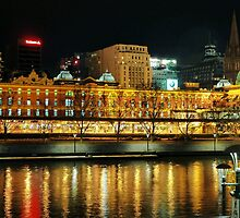 Flinders Street Station Over the Yarra by Julie Sleeman