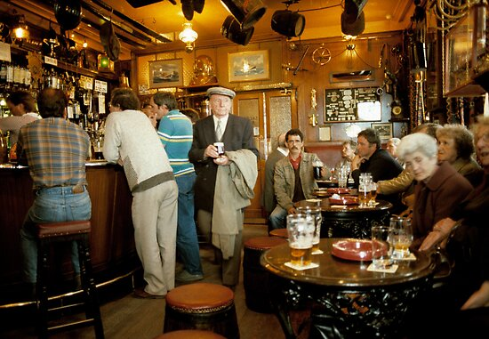 "Early evening in the ""Olde Ship Inn"" (2), Seahouses, 1980s, NE England. by David A. L. Davies"