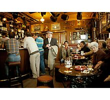 """Early evening in the """"Olde Ship Inn"""" (2), Seahouses, 1980s, NE England. Photographic Print"""