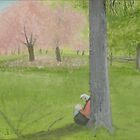 Cherry Tree Sketcher - Central Park by artofjackmck