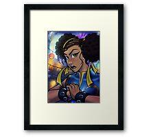 African American Chun-Li Framed Print