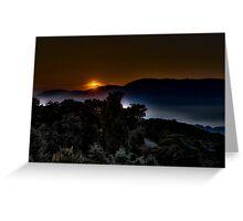 Valley Sunrise Greeting Card