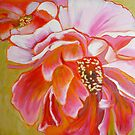 Peony Exuberance, mixed media on canvas by Sandrine Pelissier