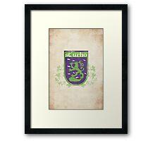St. Urho Coat of Arms Framed Print