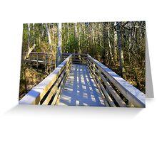 Boardwalk at Blackwater Greeting Card