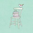 bird on a chair knows what's up! #2 by Tiffany Atkin