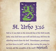 St. Urho 3:13 - Square by LTDesignStudio