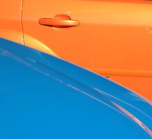 Orange and Blue Metal by sbyrne