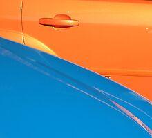 Orange and Blue Metal by sbyrne