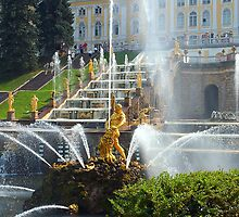 Beautifull fontain in the park by Eduard Isakov