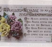 A Postcard to a Grandmother in 1917 front by Dennis Melling