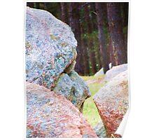 Face In Boulder Poster