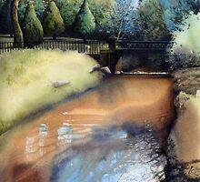 Iron Bridge, Roath Park, Cardiff. by Helen Lush