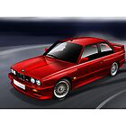 BMW M3 Coupe Illustration by Autographics