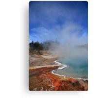 Yellowstone Park Geyser Canvas Print