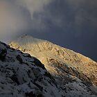 Winter storm over Crib Goch by robevans