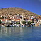 Halki Harbour View by Tom Gomez