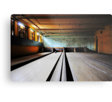 Norwich State Hospital, Underground Bowling Alley Metal Print