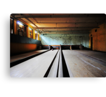 Norwich State Hospital, Underground Bowling Alley Canvas Print