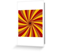 Curved rays pattern Greeting Card